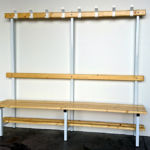 Banco perchero madera